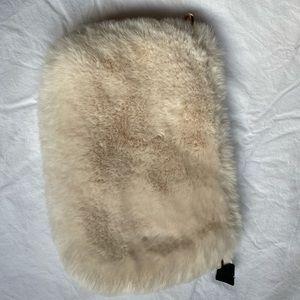 H & M fluffy clutch